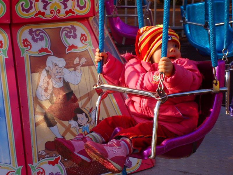 Children's mini swing ride