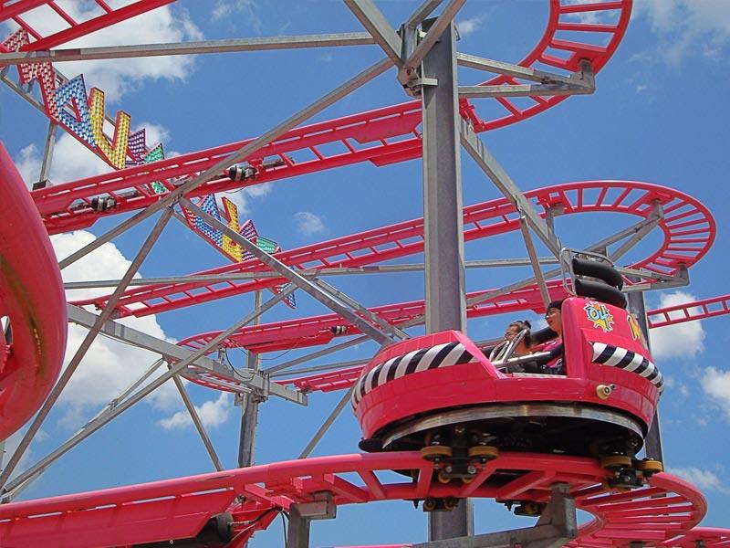 twister coaster turning corner