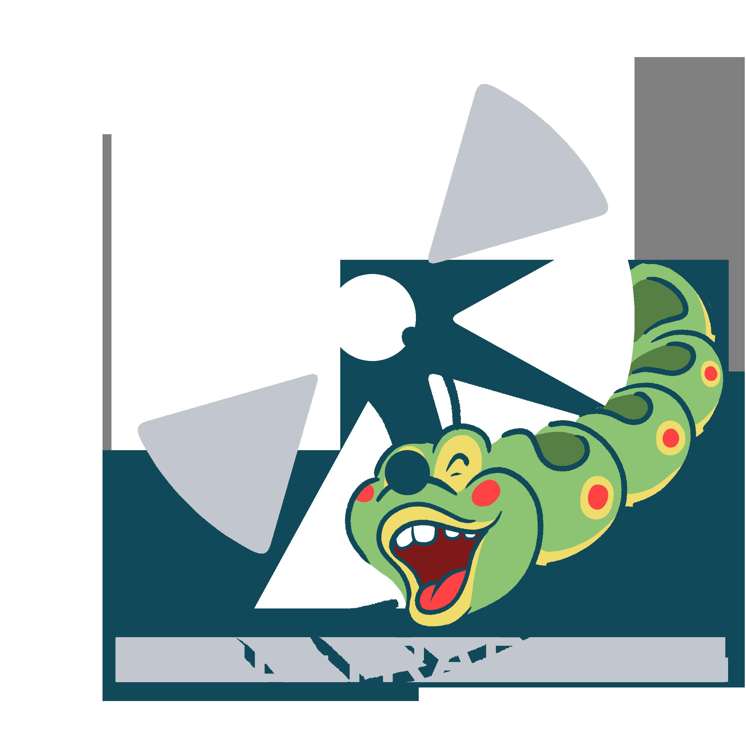 ride trader wacky worm logo